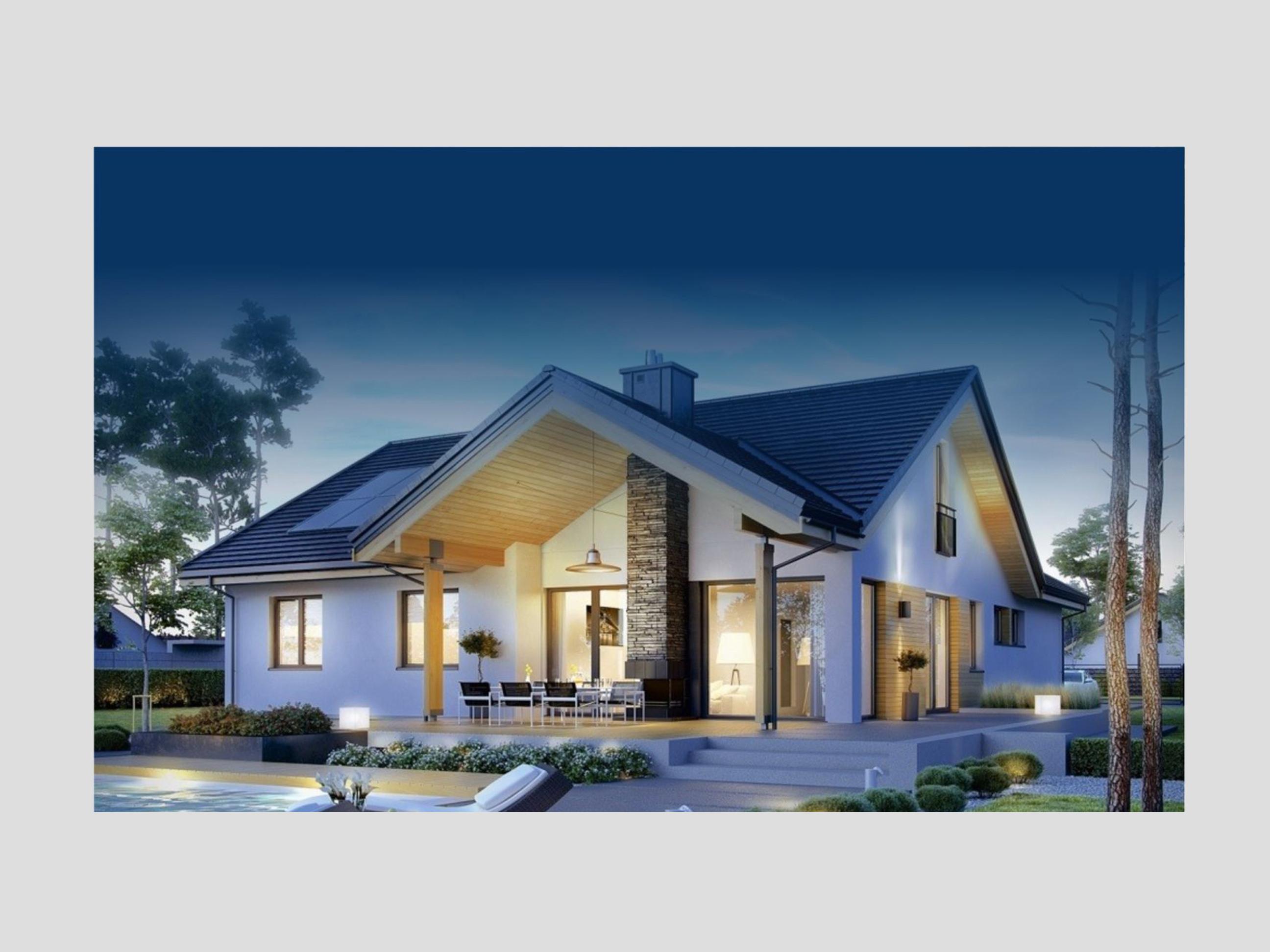 render casa abitabile legno
